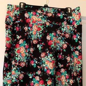 LuLaRoe flowered skirt
